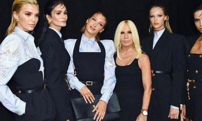 Plejada najlepszych modelek na pokazie Versace