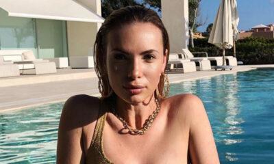 Izabela Janachowska w złotym bikini