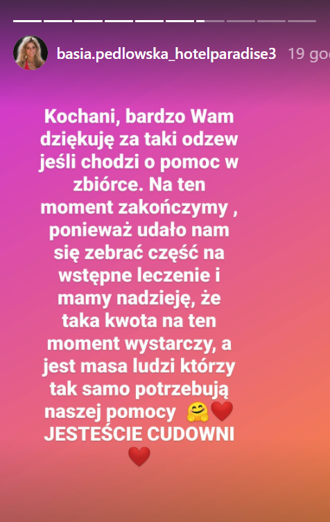 Screen z profilu Basi Pędlowskiej.