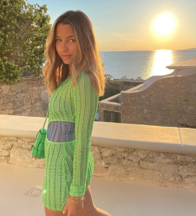 Julia Wieniawa na wakacjach w Grecji.