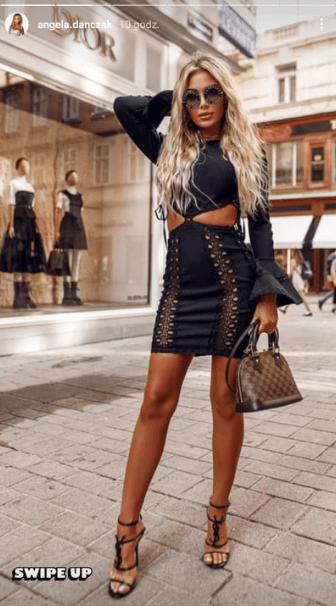 Angela Dańczak w bardzo kobiecej kreacji ze znanego butiku