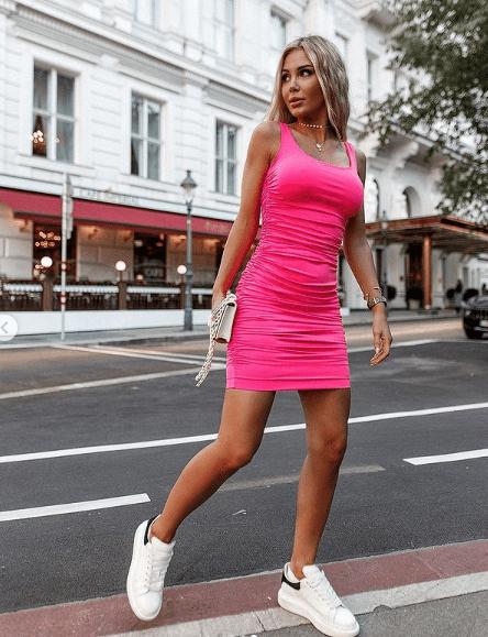 Angela Dańczak w mini sukience od luksusowej marki