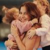 Ania Lewandowska z córkami Klarą i Laurą.