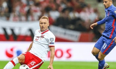 Kamil Glik na meczu Polska-Anglia.