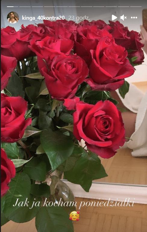 Bukiet czerwonych róż.
