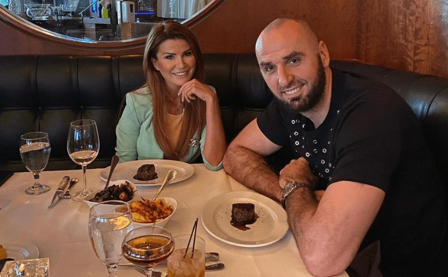 Marcin Gortat z żoną.
