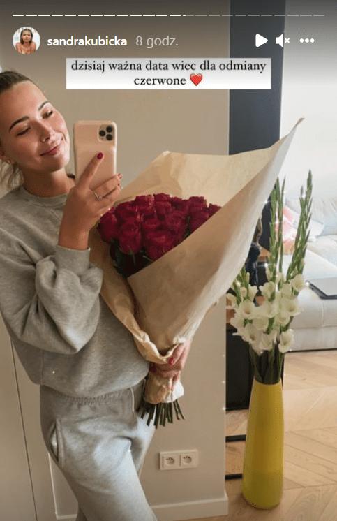 Kwiaty od Barona dla Kubickiej.